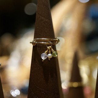 ITS-R111【14KGF・Natural Gems·Adjustable】Pearl Moonstone Ring
