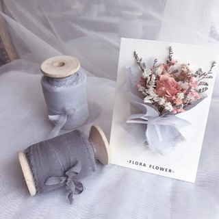 Dry Flower Card/Velvet Ribbon Bouquet/Handmade Card/Dry Flower/Graduation Card/Christmas Card