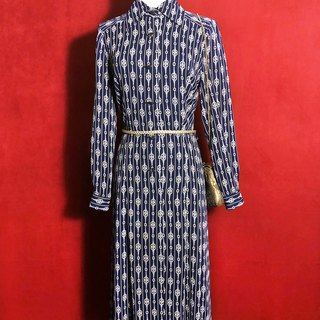 Chain chiffon long sleeve vintage dress / abroad brought back VINTAGE