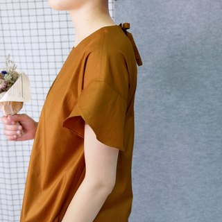 hikidashi petals sleeves shoulder dress. caramel