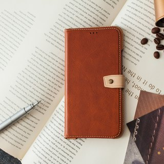 iPhoneXR Slipcase Series Leather Case - Brown