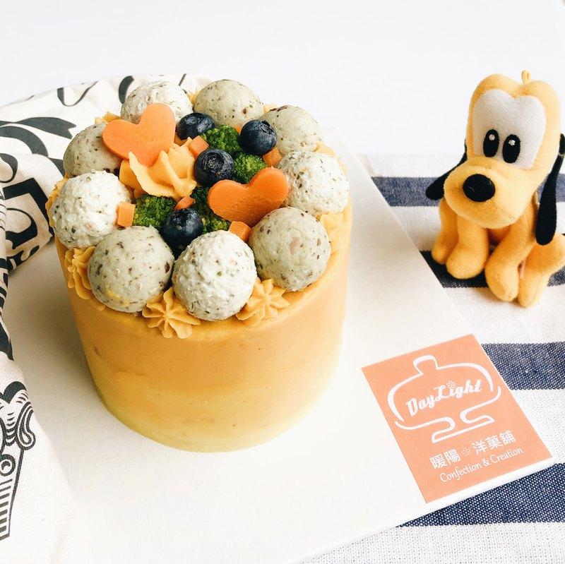 毛孩系列 • 專為狗狗設計的個人獨享3吋雙層肉多多蛋糕