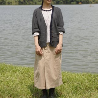 And - City Walker - Waist Elastic Pocket Asymmetrical Skirt