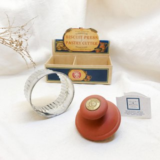[Special offer] early ancient pieces - British ceramic biscuit love stamper