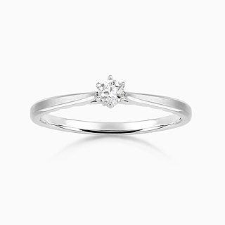 Frankness Original | 14K Pure Rose Gold Chic CZ Diamond Ring