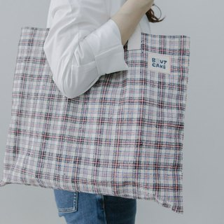 Brut Cake handmade old fabric - simple tote bag, handy for grocery shopping or traveling