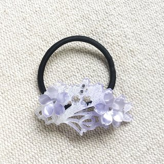 Sakura dye, hair bundle, hair ring - purple silver