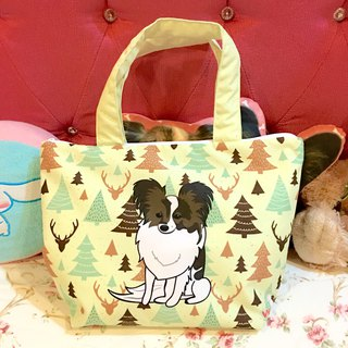 Papillon dog tote bag