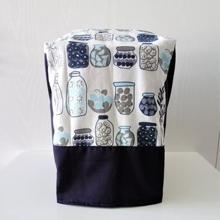 Bread Maker Cover (Glass Jars x Dark Blue)