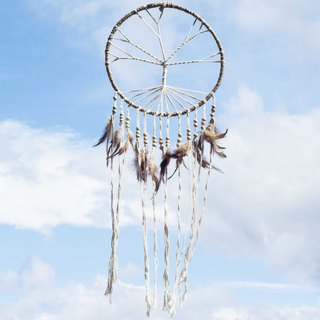 National wind hand-woven cotton and linen earth color dream catcher dreams Cather-the big tree in the forest