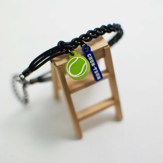 Tennis calfskin bracelet + small tag | school name or name + back number |