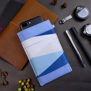 GEOMETRY【TRANQUIL BLUE】OM CLEANING-FIBER CELL PHONE POUCH ONOR SUMMER-LIMITED