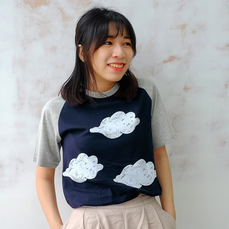 絕版出清-漂浮貓-中性純棉T-Shirt