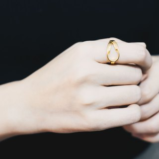 Twisted Ring gold-plated ring | custom gift