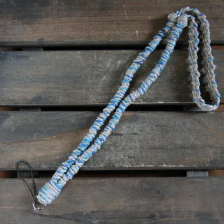 MIX hemp neck strap blue