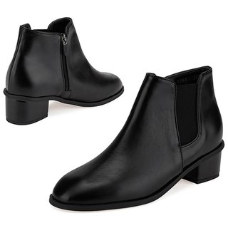 PRE-ORDER - SPUR Sheen chelsea boots LF7043 BLACK