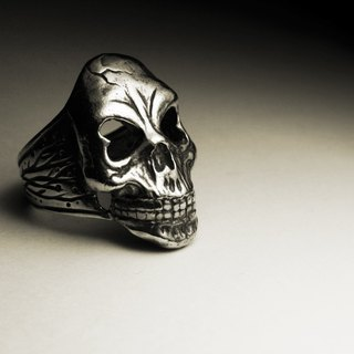 Large heart skull ring