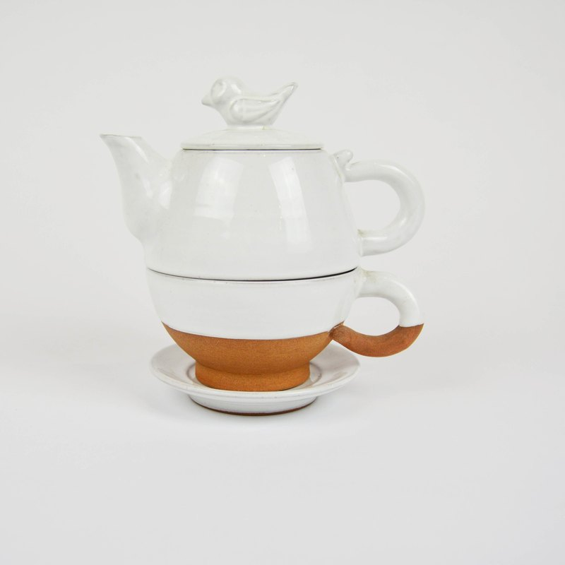Snow bird tea set - fair trade