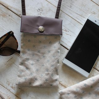Canvas cell phone bag