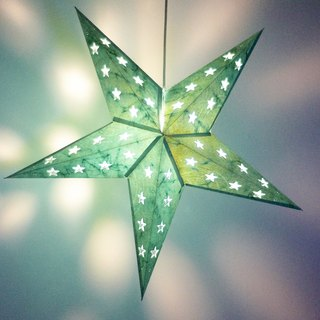 Christmas gifts handmade handmade paper star light / star mang lamp / star light / origami light / night light - moonlight under the green star star star star galaxy