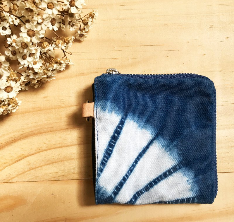 粼光-藍染零錢包