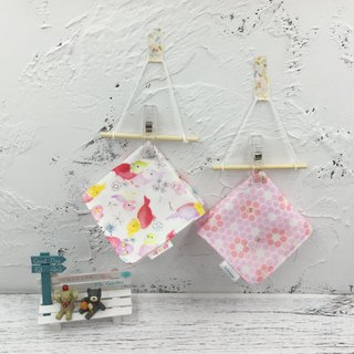 G21-soft soft gauze handkerchief (six-layer gauze) double-sided pattern flower parrot & bee collecting honey