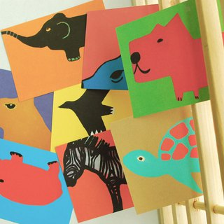Third Floor Artist Postcard Group Animals A set of 9