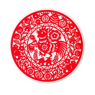 Annunciation Rooster Rooster Coaster