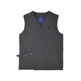 oqLiq - AdHeRe - Very Flat Open Vest (Black)