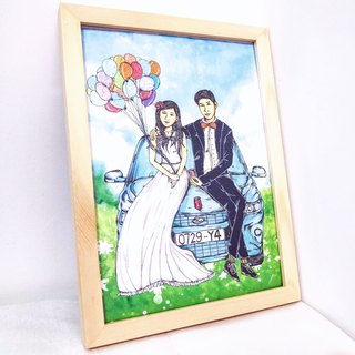 (Hankuang) original custom hand-painted art custom painting (Valentine's Day / Memorial / Christmas / birthday / Mother / Father's Day)