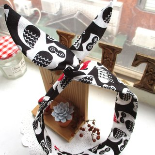 Small Kite - Forwarding Band (Handmade) - Windy Owl - Black