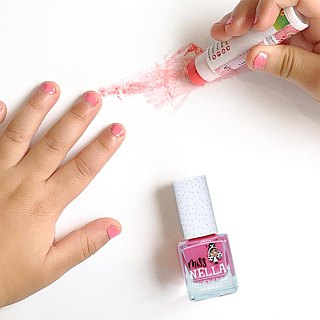 British [Miss Nella] children's water-based tear-proof safety nail polish - sweetheart (MN03)