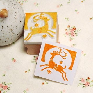 Apu Handmade Rubber Bands Jumping Fawn Rubber Stamps / Chops