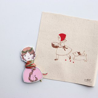 Little Red Riding Hood illustration embroidery material package