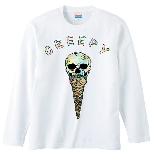 [Long Sleeve T Shirt] Creepy ice cream