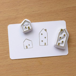Small house seal combination hand engraved rubber stamp