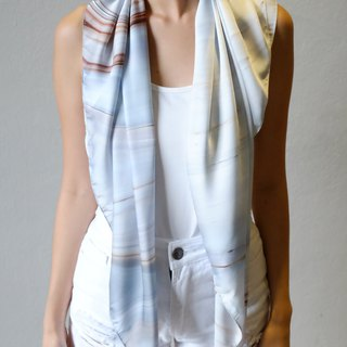 White Marble Scarf
