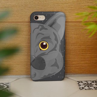 iphone case gray cat right face for iphone 6, 7, 8, iphone xs , iphone xs max