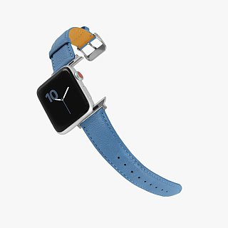 Multicolor Genuine Leather Goatskin Series Macaron Dream Color Blue Apple Watch Apple Watch Strap