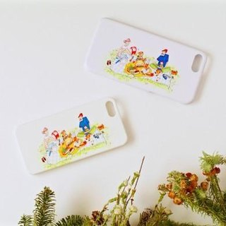 Picnic landscape drawn, smart case