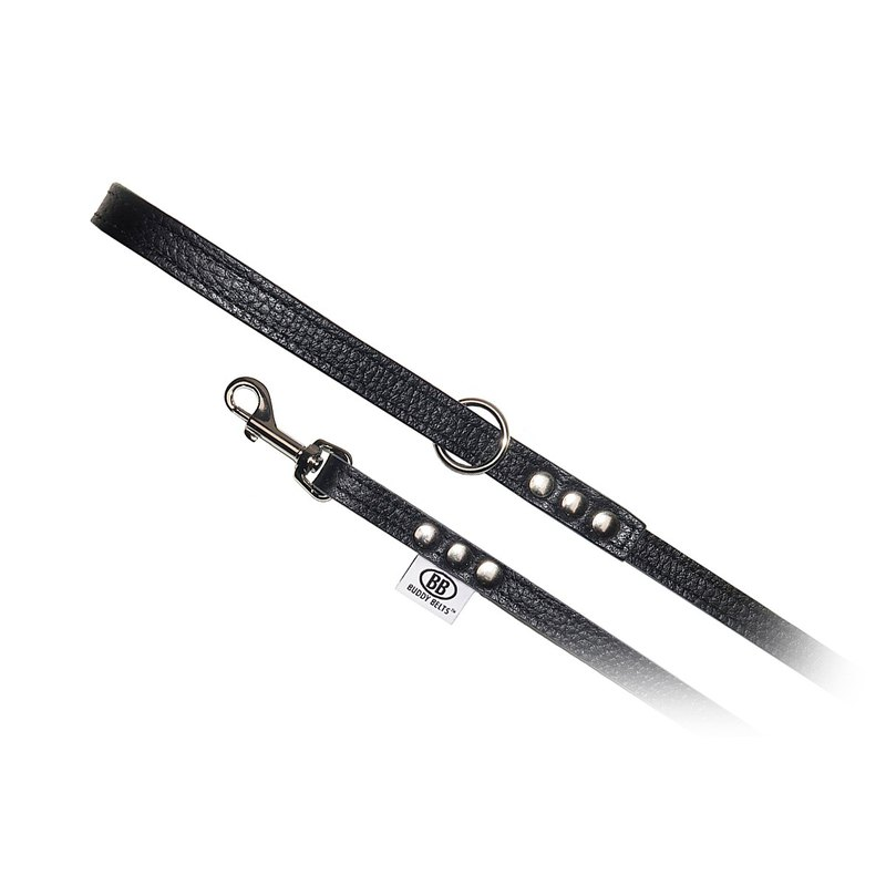 Canada Buddy Belts Leather Strap - Black