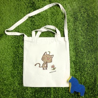 [Illustrator / Namco cat Namilkcat] Namilkcat literary straight canvas bag