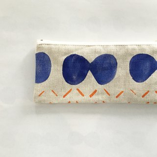 moshimoshi | linen pencils - blue cell division