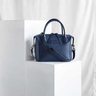 LAUREL- WOMAN LEATHER HANDBAG-NAVY