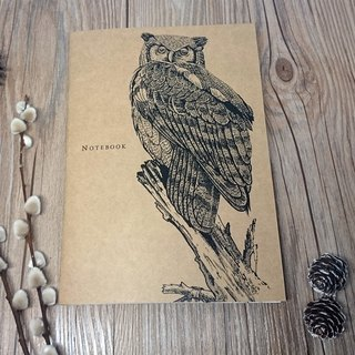 Owl - animal line painted notebook