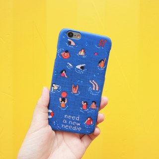 BLUE SWIMMING POOL iPhone Case