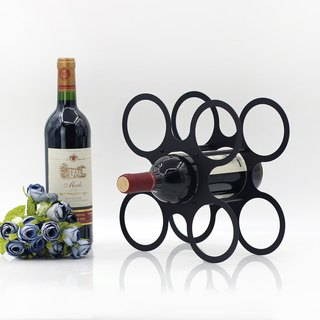 【OPUS Dongqi Metalworking】 European-style iron wine bottle display stand / wine care accessories / wine cabinet Decoration (dance wine rack WR017)