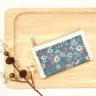 [FXS/ Four Degree Space Coin Purse] Country Flower Sea. Bubble Cloth. Green