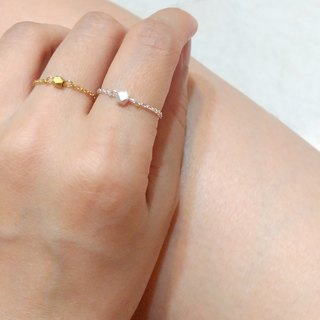 Pure-sterling silver/brass fine chain ring