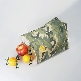 Canadian fluf organic cotton [hand bag]--camouflage